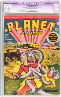 Planet Comics #2 (Fiction House, 1940) CGC Apparent FN+ 6.5 Moderate (B-3) Off-white to white pages