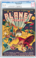 Golden Age (1938-1955):Science Fiction, Planet Comics #6 (Fiction House, 1940) CGC GD+ 2.5 Cream tooff-white pages....