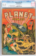 Golden Age (1938-1955):Science Fiction, Planet Comics #5 (Fiction House, 1940) CGC VG 4.0 Cream tooff-white pages....