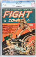 Golden Age (1938-1955):War, Fight Comics #24 (Fiction House, 1943) CGC VF- 7.5 Off-whitepages....