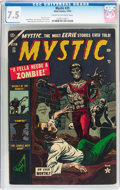 Golden Age (1938-1955):Horror, Mystic #25 (Atlas, 1953) CGC VF- 7.5 Cream to off-white pages....