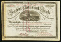 Washington, DC - Six Shares Stock Certificate The Central NB Ch. # 2382