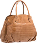 "Luxury Accessories:Bags, Zagliani Brown Crocodile Tote Bag. Excellent Condition.15"" Width x 13"" Height x 7"" Depth. ..."