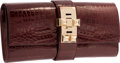 Luxury Accessories:Bags, Hermes 23cm Shiny Bordeaux Alligator Medor Clutch Bag withPermabrass Hardware. R Square, 2014. PristineCondition. ...