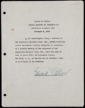 Baseball Collectibles:Others, 1948 Eddie Collins Louisville Slugger Waiver....