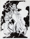 Original Comic Art:Covers, Art Adams New Mutants Forever #5 Magik and S'ym CoverOriginal Art (2011)....