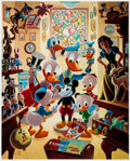 Memorabilia:Disney, Carl Barks In Uncle Walt's Collectery Signed Limited Edition Lithograph Print 204/345 (Another Rainbow, 1984).... (Total: 2 Items)
