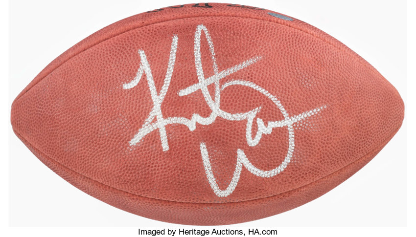 save off a89bd d0a29 Kurt Warner Signed Football.... Football Collectibles Balls ...