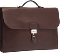 Luxury Accessories:Bags, Hermes 40cm Havane Ardennes Leather Double Gusset Sac a Depeches Briefcase Bag with Palladium Hardware. A Square, 1997. ...
