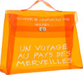 Luxury Accessories:Bags, Hermes 40cm Orange Vinyl Souvenir de l'Exposition Kelly Bag with Gold Hardware. 1998. Good to Very Good Condition. ...