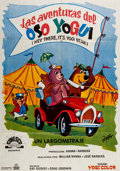 Animation Art:Poster, Hey There, It's Yogi Bear Italian One Sheet Movie Poster(Hanna-Barbera, 1964)....