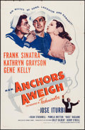 "Movie Posters:Musical, Anchors Aweigh (MGM, R-1955). One Sheet (27"" X 41""). Musical.. ..."