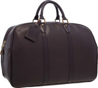"Louis Vuitton Mahogany Taiga Leather Kendall 45 Weekender Bag Excellent Condition 18"" Width x 12"" Height x"