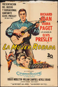 "Movie Posters:Elvis Presley, Love Me Tender (20th Century Fox, 1957). Argentinean Poster (29"" X43""). Elvis Presley.. ..."