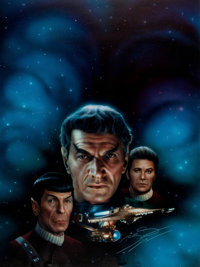 Keith Birdsong Star Trek: Sarek Paperback Book Cover Painting Original Art (Pocket Books, 1993)