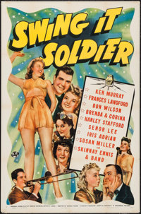 "Swing It Soldier (Universal, 1941). One Sheet (27"" X 41""). Comedy"