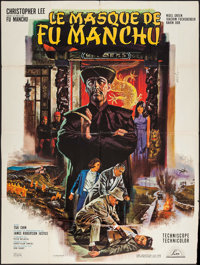 """The Face of Fu Manchu (Lux, 1966). French Grande (47"""" X 63""""). Horror"""