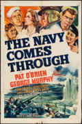 "Movie Posters:War, The Navy Comes Through (RKO, 1942). One Sheet (27"" X 41""). War....."