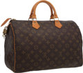 "Luxury Accessories:Accessories, Louis Vuitton Classic Monogram Canvas Speedy 35 Bag. ExcellentCondition. 15"" Width x 7.5"" Height x 9.5"" Depth . ..."