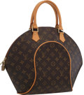 "Luxury Accessories:Accessories, Louis Vuitton Classic Monogram Canvas Ellipse MM Bag. ExcellentCondition. 10"" Width x 12"" Height x 3"" Depth, 4""Handl..."