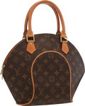 "Luxury Accessories:Accessories, Louis Vuitton Classic Monogram Canvas Ellipse PM Bag . Excellent Condition . 8"" Width x 11"" Height x 6"" Depth, 4"" Handle D..."