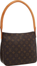 """Luxury Accessories:Accessories, Louis Vuitton Classic Monogram Canvas Looping MM Bag . Excellent Condition . 9.5"""" Width x 8.5"""" Height x 4"""" Depth, 8"""" Shoul..."""