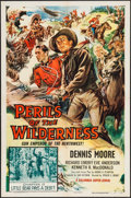"Movie Posters:Serial, Perils of the Wilderness (Columbia, 1955). One Sheet (27"" X 41"")Chapter 13 -- ""Little Bear Pays a Debt!"" Serial.. ..."