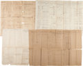 Military & Patriotic:Civil War, [Texas CSA]. Four Muster Rolls for Company D of the 6th Regiment Texas Cavalry.... (Total: 4 Items)