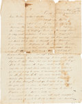 Militaria:Ephemera, CSA Soldier's Letter by N. Williams of Mississippi....