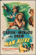 """Movie Posters:Comedy, Man Alive (RKO, 1945). One Sheet (27"""" X 41""""). Comedy.. ..."""