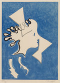 Prints:European Modern, Georges Braque (French, 1882-1963). Profil de Femme, pl. 11,from Si je mourais là-bas, 1962. Woodcut in colors on p...