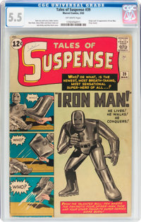 Tales of Suspense #39 (Marvel, 1963) CGC FN- 5.5 Off-white pages