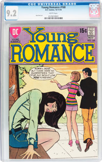 Young Romance #168 (DC, 1970) CGC NM- 9.2 White pages