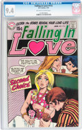Bronze Age (1970-1979):Romance, Falling in Love #112 (DC, 1970) CGC NM 9.4 Off-white to whitepages....