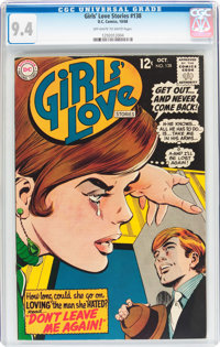 Girls' Love Stories #138 (DC, 1968) CGC NM 9.4 Off-white to white pages