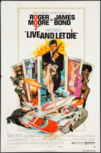 """Live and Let Die (United Artists, 1973). One Sheet (27"""" X 41""""). James Bond"""