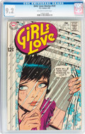 Silver Age (1956-1969):Romance, Girls' Love Stories #141 (DC, 1969) CGC NM- 9.2 Off-white to white pages....