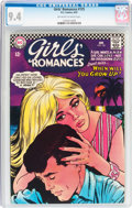 Silver Age (1956-1969):Romance, Girls' Romances #125 (DC, 1967) CGC NM 9.4 Off-white to white pages....