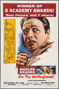 "On the Waterfront (Columbia, R-1959). One Sheet (27"" X 41""). Academy Award Winners"