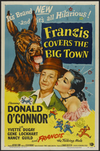 """Francis Covers the Big Town (Universal International, 1953). One Sheet (27"""" X 41""""). Comedy"""