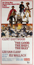 "Movie Posters:Western, The Good, The Bad and The Ugly (United Artists, 1968). Three Sheet (41"" X 77""). The final film in Sergio Leone's ""Dollars"" t..."