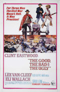 "Movie Posters:Western, The Good, The Bad and The Ugly (United Artists, 1968). One Sheet (27"" X 41""). This poster has light toning at fold lines, so..."