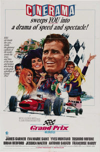 """Grand Prix (MGM, 1967). One Sheet (27"""" X 41"""") Style A, Cinerama. This 1966 spectacle directed by John Frankenh..."""