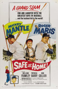 """Movie Posters:Sports, Safe at Home (Columbia, 1962). One Sheet (27"""" X 41""""). This film was released in 1962 to take advantage of the new baseball s..."""