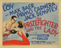 "Movie Posters:Romance, The Prizefighter and the Lady (MGM, 1933). Title Lobby Card andLobby Cards (3) (11"" X 14""). Boxer Max Baer makes his screen...(Total: 4 Items)"