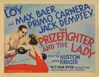 """The Prizefighter and the Lady (MGM, 1933). Title Lobby Card and Lobby Cards (3) (11"""" X 14""""). Boxer Max Baer ma..."""
