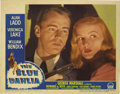 "Movie Posters:Film Noir, The Blue Dahlia (Paramount, 1946). Lobby Card (11"" X 14""). AlanLadd and Veronica Lake were reunited for this film noir ..."