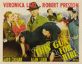 "Movie Posters:Film Noir, This Gun For Hire (Paramount, 1942). Half Sheet (22"" X 28""). StyleB. It was the first pairing of Alan Ladd and Veronica Lak..."