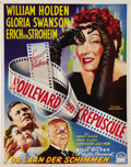 """Movie Posters:Film Noir, Sunset Boulevard (Paramount, 1950). Belgian (14"""" x 18""""). Theposters for this title are extremely collectible and this Belgi..."""