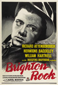 "Movie Posters:Crime, Brighton Rock (Associated British Picture Corporation, 1947) British One Sheet (27"" X 40""). The 24-year-old Richard Attenbor..."
